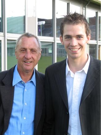 Dirk Tuip and Johan Cruyff
