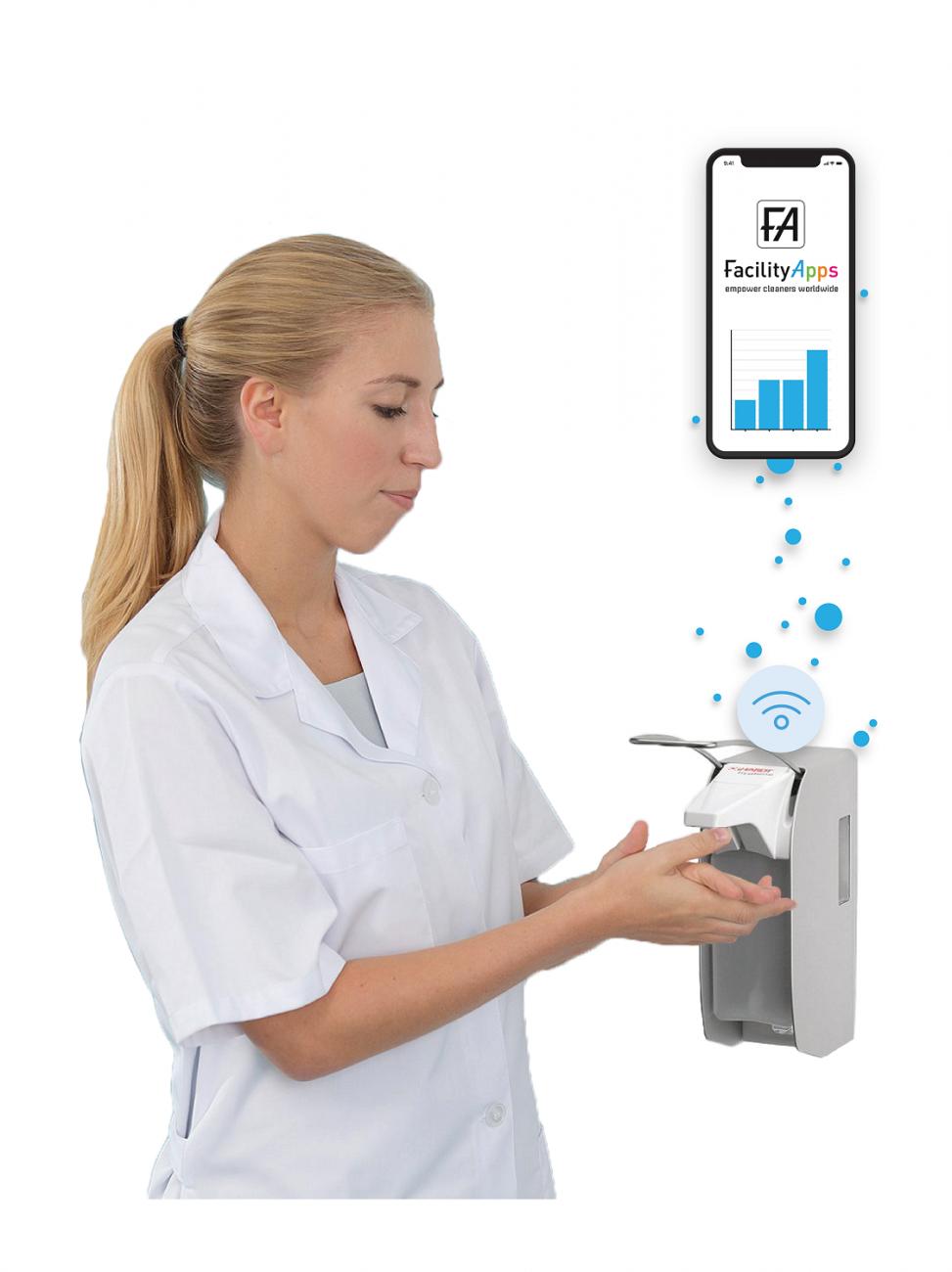 Smart Washroom Hospital Solutions. Intelligent Hand Hygiene Dispenser