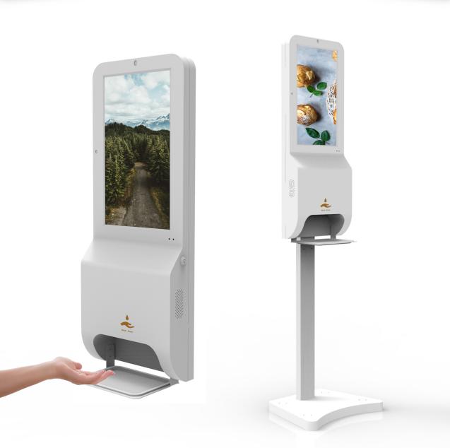 mobiele desinfectiezuil met sensor en app